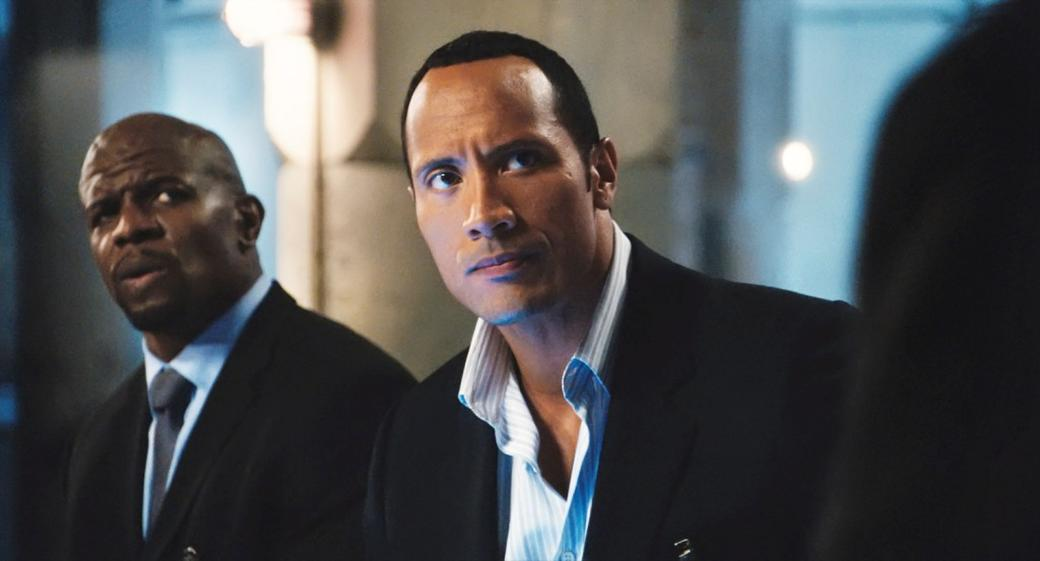 Terry Crews as Agent 91 and Dwayne Johnson as Agent 23 in