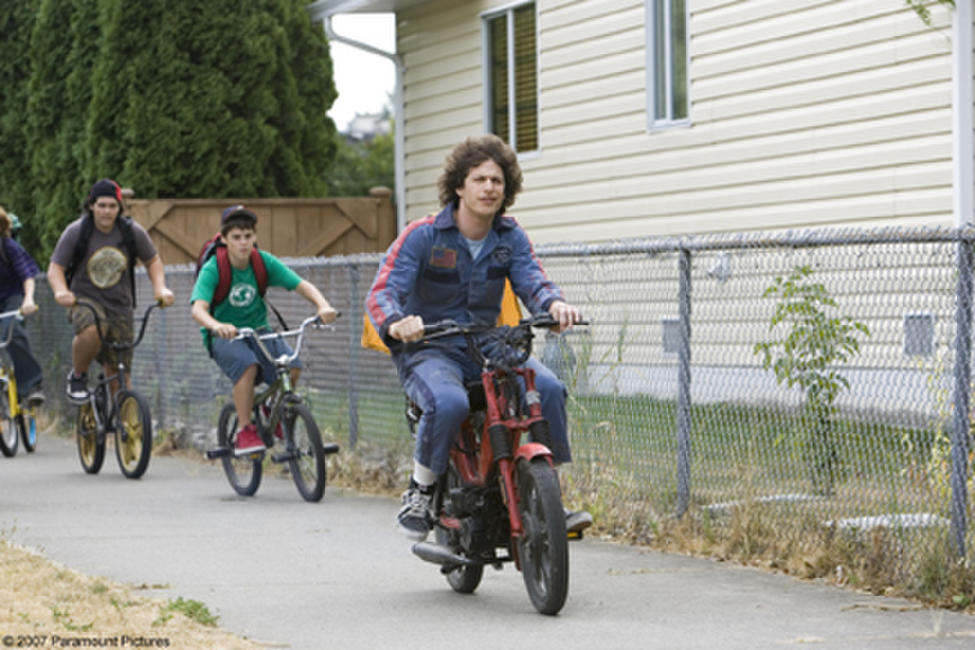Rod Kimble (Andy Samberg), a legend-in-his-own-mind stuntman, is taunted by the kids in the neighborhood in