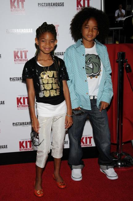 Willow Smith and Jaden Smith at the premiere of