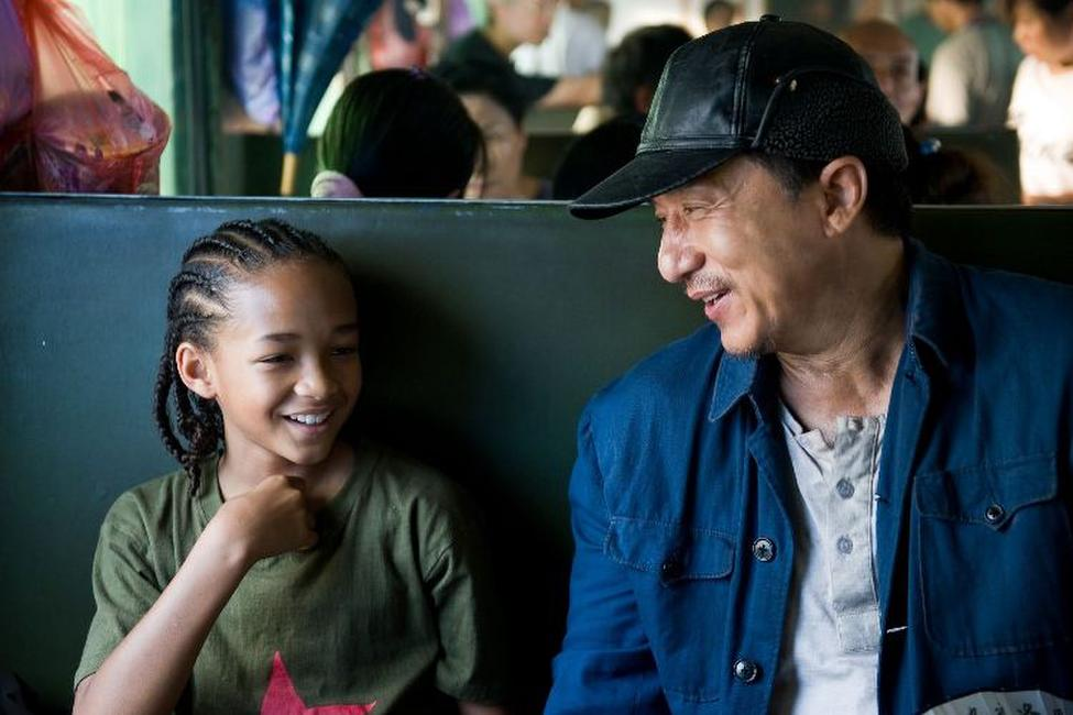 Jaden Smith and Jackie Chan in