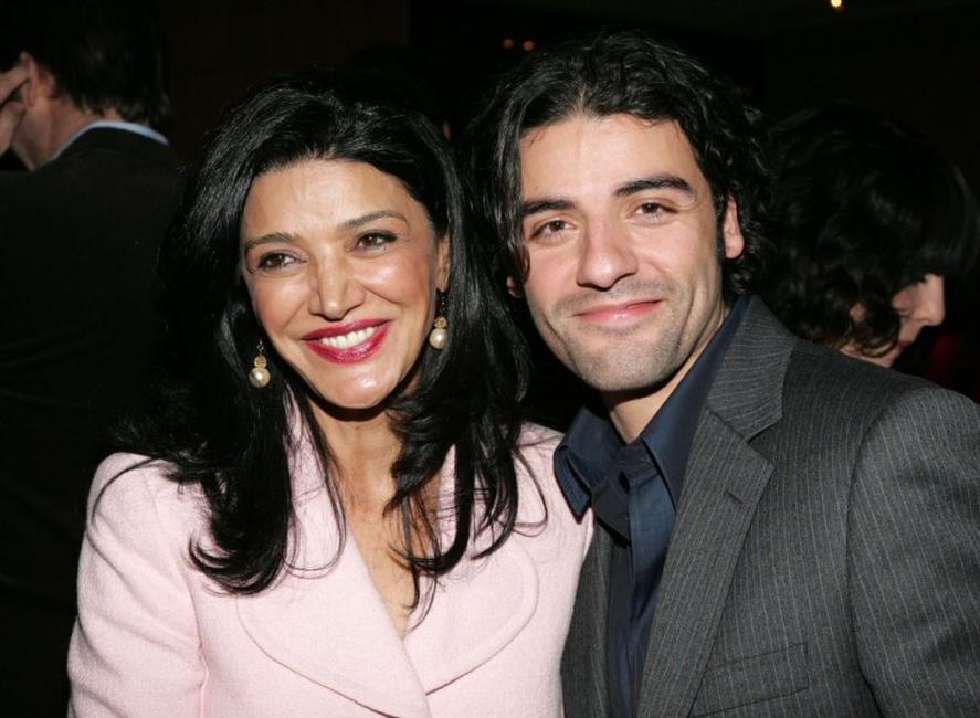 Shohreh Aghdashloo and Oscar Isaac at the premiere of