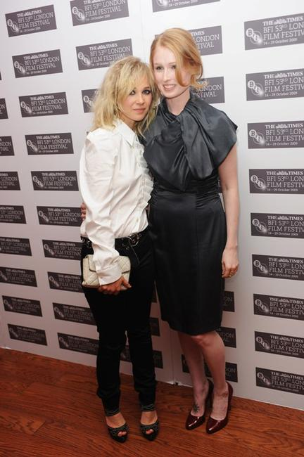 Juno Temple and Jordan Scott at the premiere of