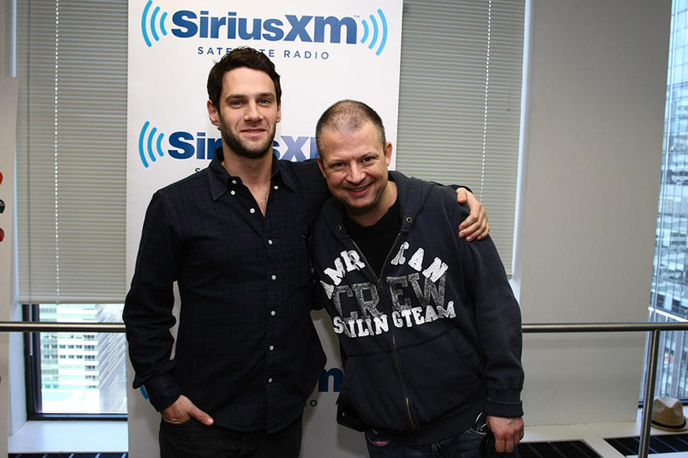 Justin Bartha and Jim Norton at the SiriusXM Studios in New York.