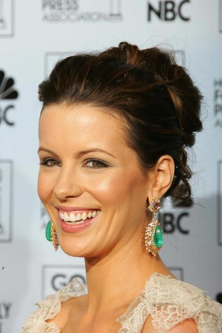 Kate Beckinsale at the Golden Globes Awards.