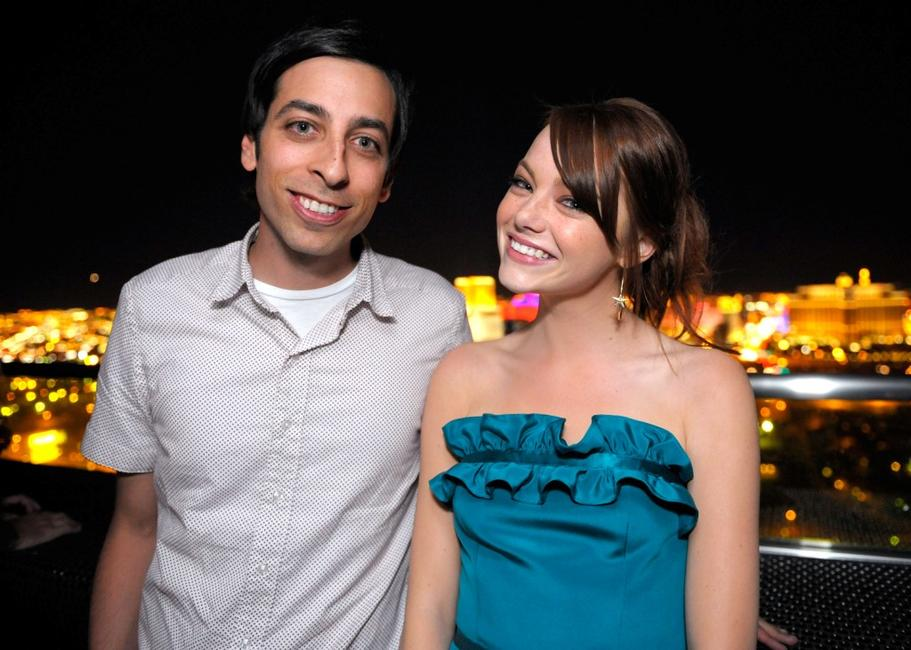 Lonny Ross and Emma Stone at the opening night party of 2008 CineVegas film festival.