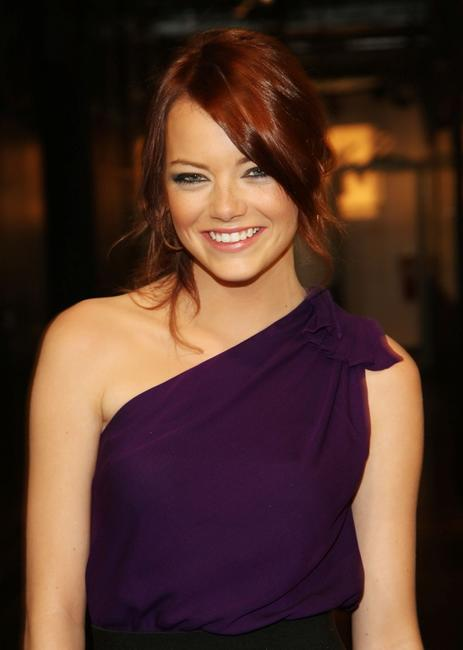 Emma Stone at the MTV's Total Request Live.