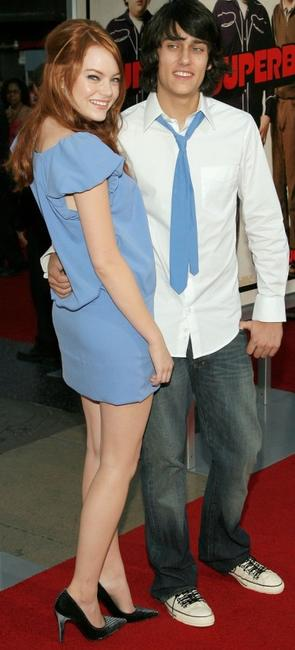 Emma Stone and Teddy Geiger at the premiere of