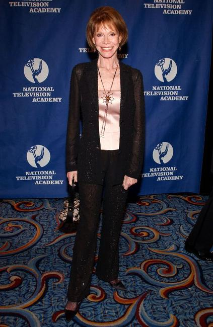 Mary Tyler Moore at the 26th Annual News and Documentary Emmy Awards.
