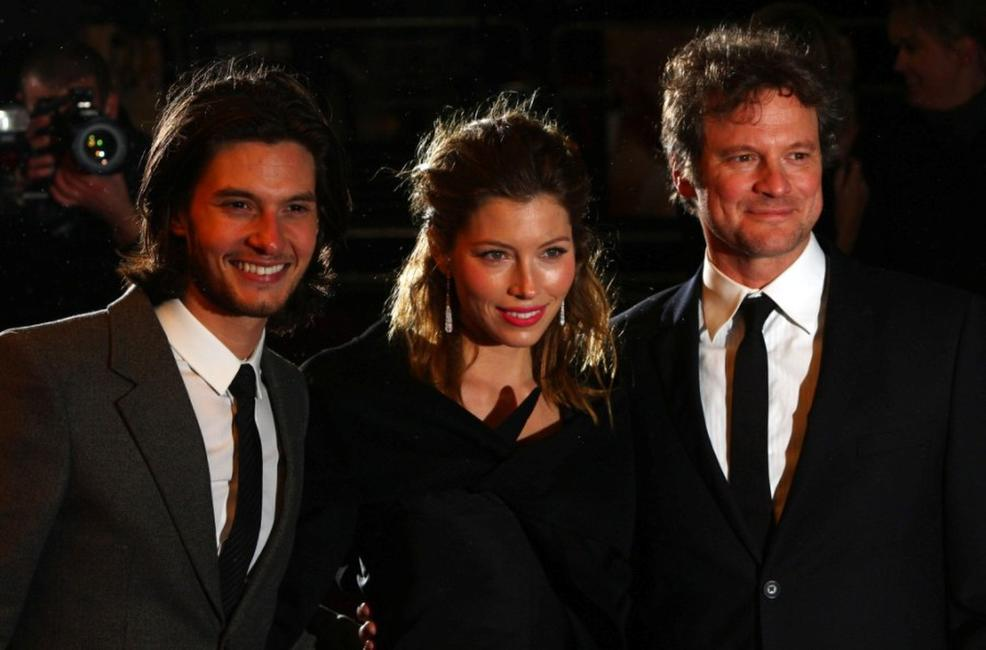 Ben Barnes, Jessica Biel and Colin Firth at the UK premiere of