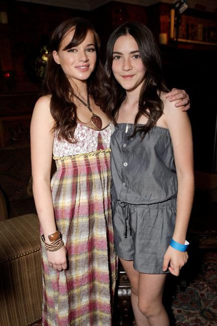 Ashley Rickards and Isabelle Fuhrman at the Melanie Segal's Celebrity S.O.S (Save Our Seas) Lounge.
