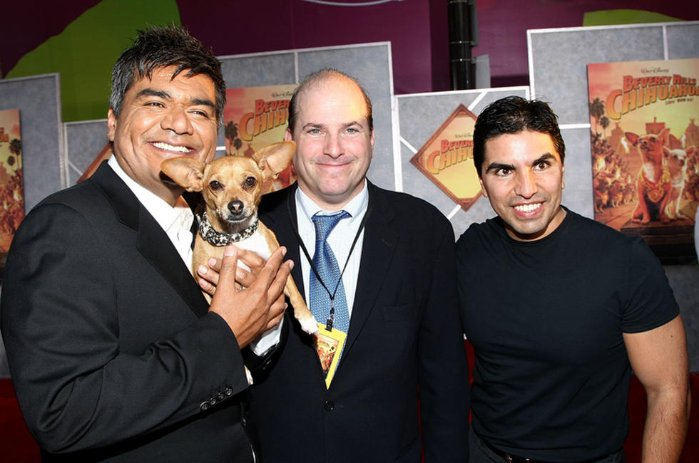 George Lopez, producer John Jacobs and Eddie