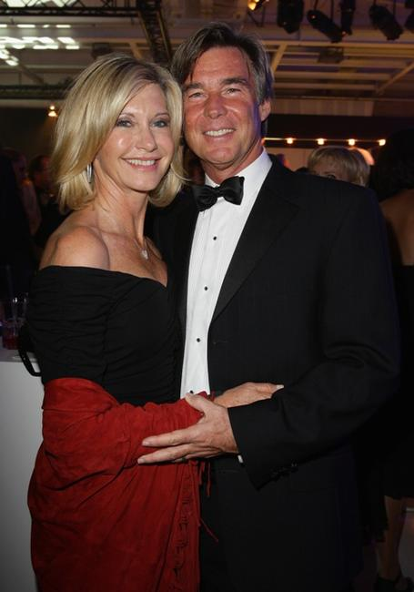 Olivia Newton-John and John Easterling at the after show party for