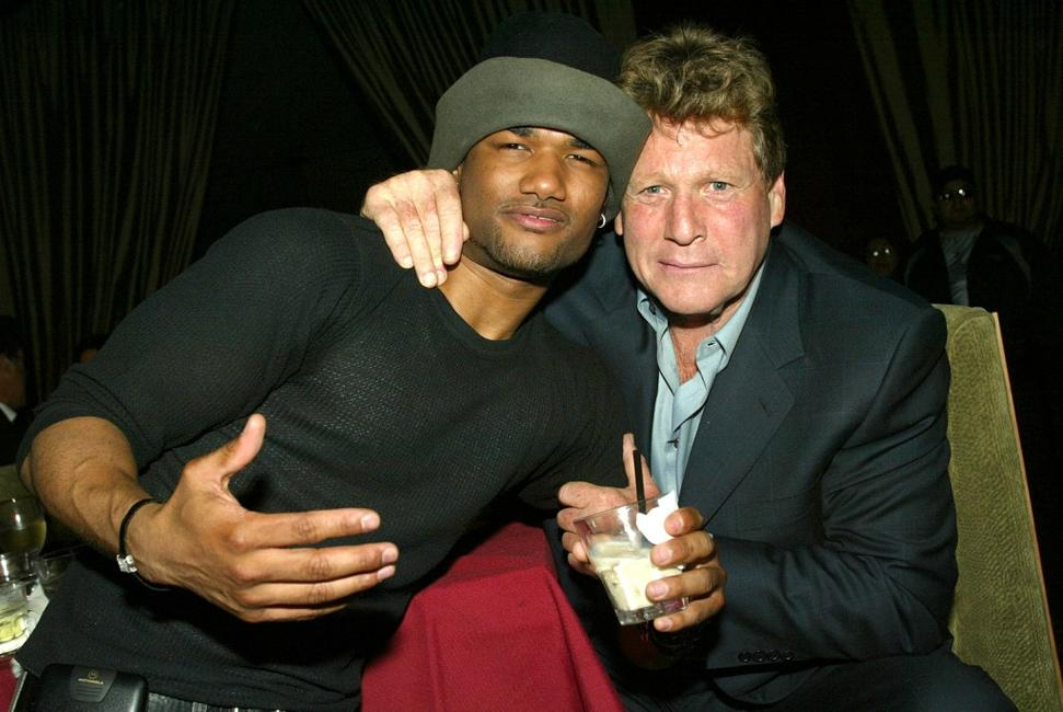 Ryan O'Neal and Damien Wayans at the Los Angeles after-party for