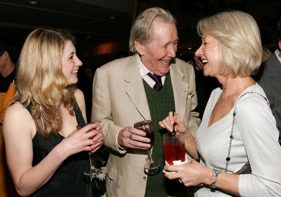 Peter O'Toole, Helen Mirren and Jodie Whittaker at the pre-Oscar party of