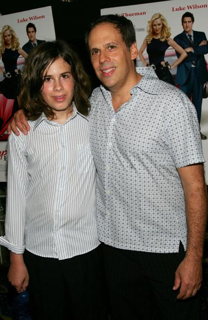 Zane and his father Josh Pais at the premiere of
