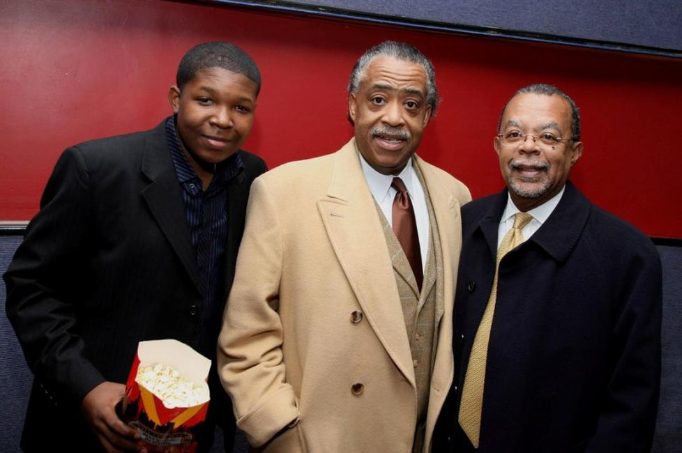 Denzel Whitaker, Rev. Al Sharpton and Professor Skip Gates at the screening of