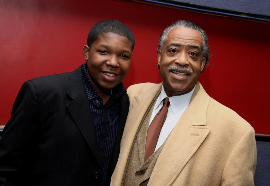 Denzel Whitaker and Rev. Al Sharpton at the screening of