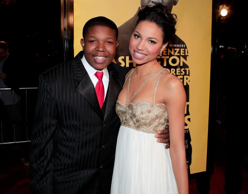Denzel Whitaker and Jurnee Smollett at the premiere of