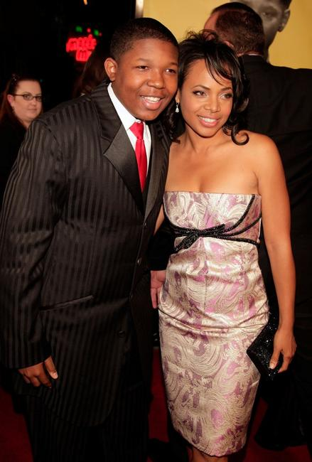 Denzel Whitaker and Gina Ravera at the premiere of