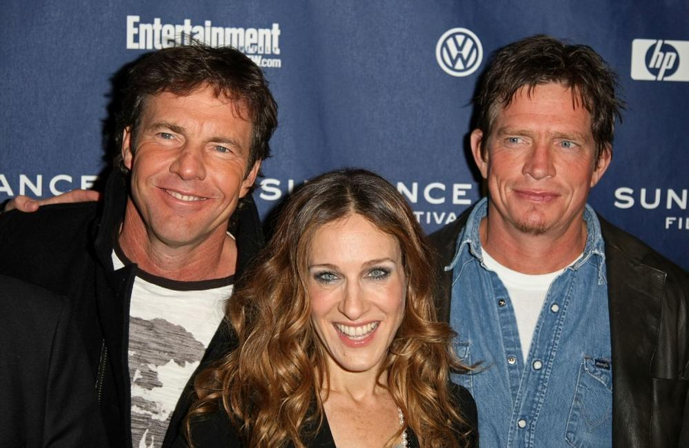 Sarah Jessica Parker, Dennis Quaid and Thomas Haden Church at the Sundance Film Festival premiere of