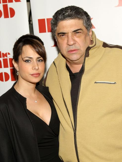 Erika Maconi and Vincent Pastore at the screening of