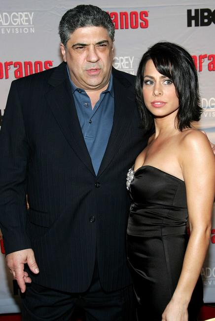 Vincent Pastore and Erika Maconi at the premiere of
