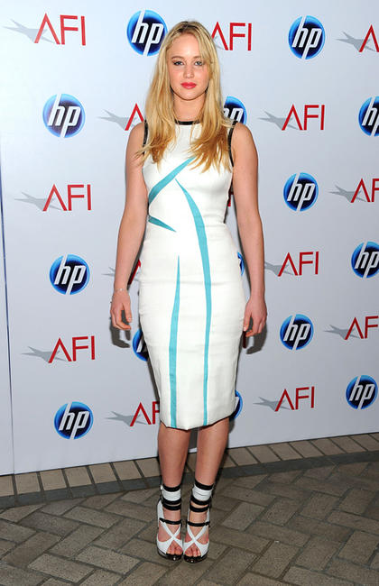 Jennifer Lawrence at the Eleventh Annual AFI Awards in California.