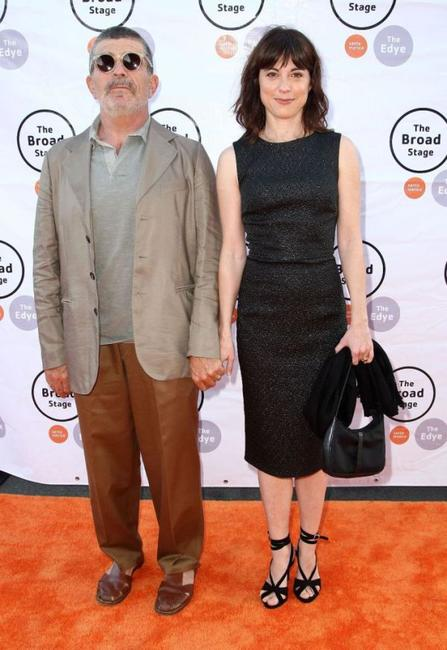 David Mamet and Rebecca Pidgeon at the Eli And Edythe Broad Stage Opening of