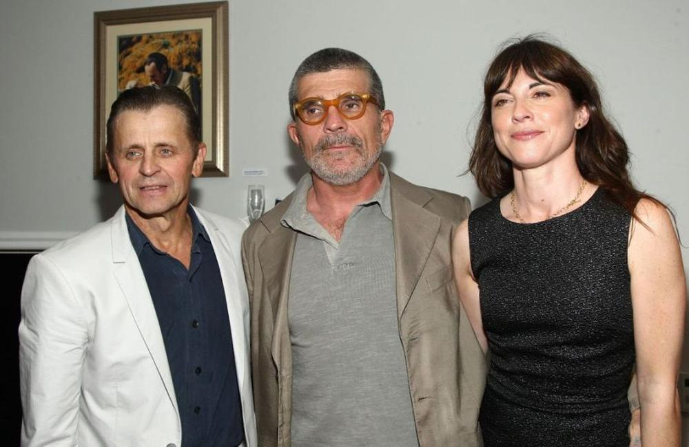 Mikhail Baryshnikov, David Mamet and Rebecca Pidgeon at the Eli And Edythe Broad Stage Opening of