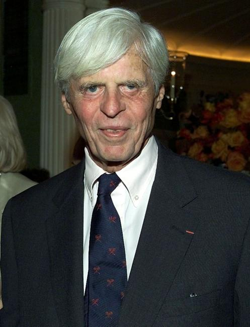 George Plimpton at the CNBC's announcement of