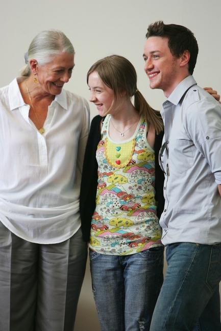 Vanessa Redgrave, Saoirse Ronan and James McAvoy at the
