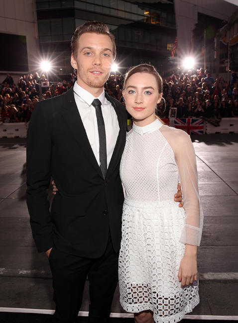 Jake Abel and Saoirse Ronan at the California premiere of
