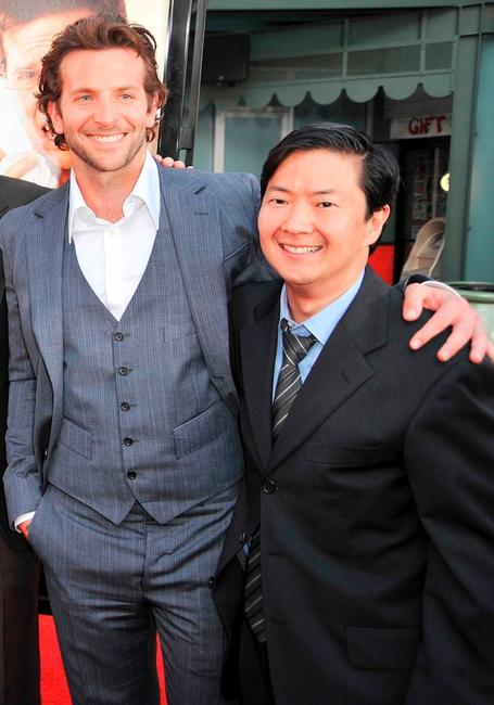 Bradley Cooper and Ken Jeong at the premiere of