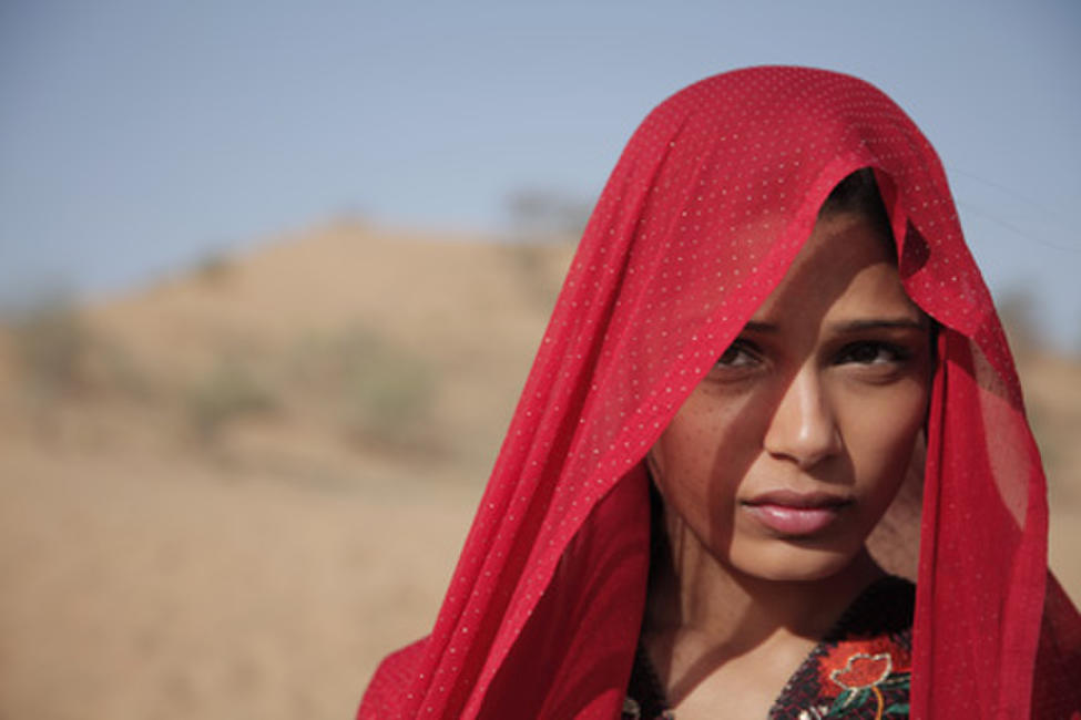 Freida Pinto as Trishna in ``Trishna.''