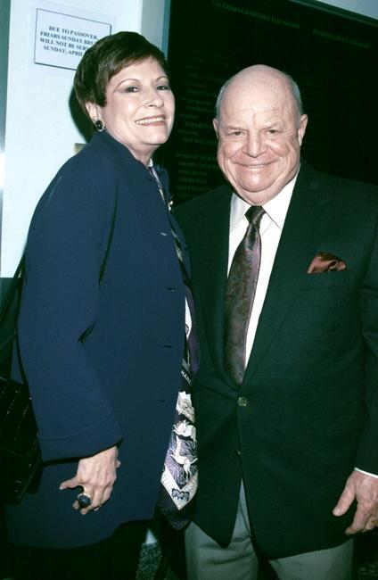 Don Rickles and his wife Barbara Sklar at a tribute to actor/comedian Jan Murray.