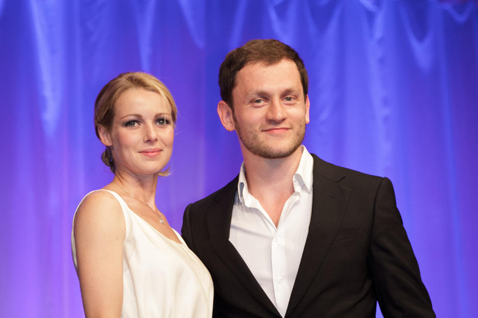 Fleur Lise Heuet and  Abraham Belaga at the 26th Cabourg Romantic Film Festival in France.