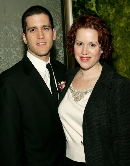 Molly Ringwald and Panio Gianopoulos at the Signature Theatre Company's Annual Gala honoring playwright Paula Vogel.