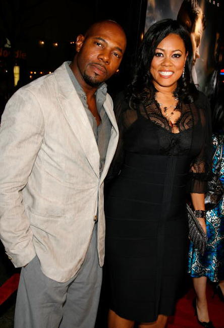 Director Antoine Fuqua and Lela Rochon at the premiere of