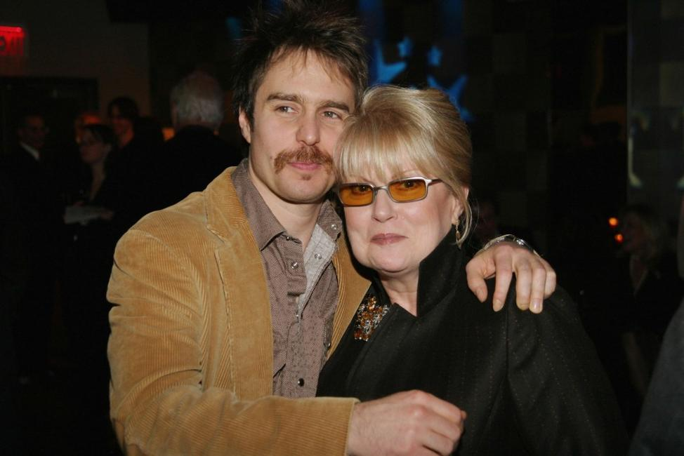 Sam Rockwell and honoree Georgianne Walken at the New York Stage and Film 2004 Gala.