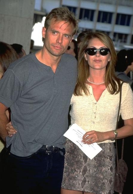 Michael Biehn and his wife in an undated file photo.