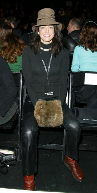 Jennifer Rubin at the show for the Kenneth Cole Fall/Winter 2003 Collection during the Mercedes-Benz Fashion Week.