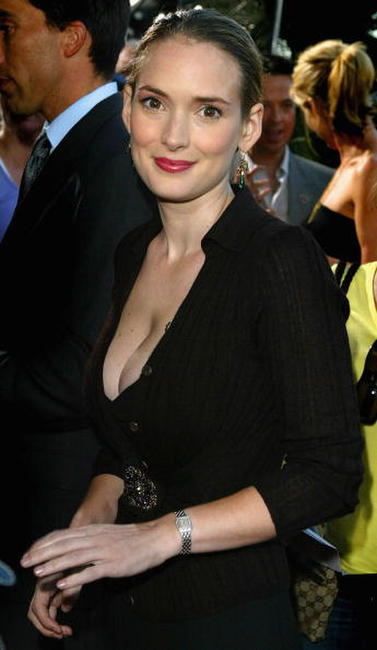 Winona Ryder at the L.A. premiere of