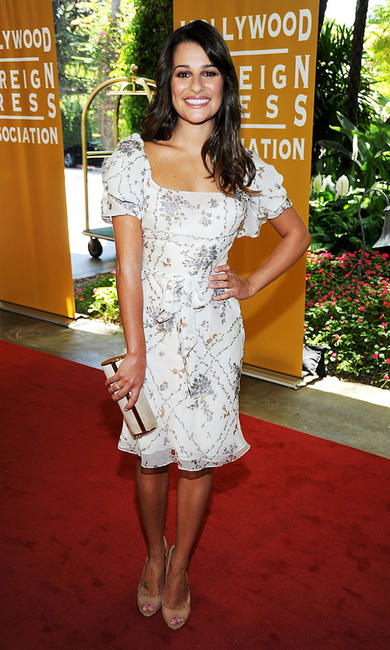 Lea Michele at the Hollywood Foreign Press Association's 2011 Installation Luncheon in California.