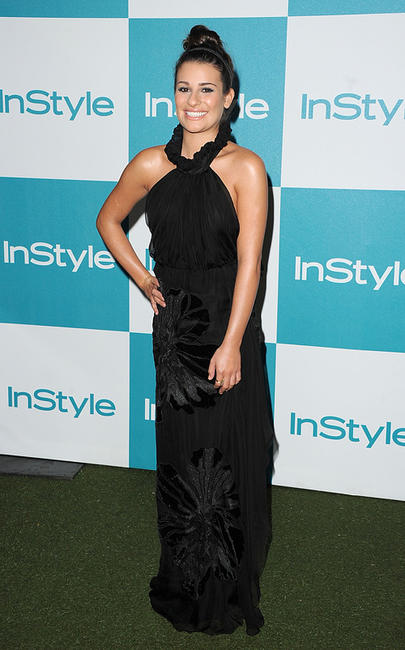 Lea Michele at the 10th Annual InStyle Summer Soiree in California.