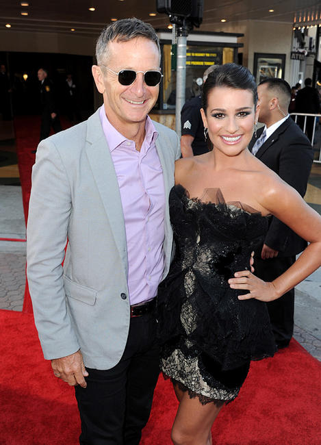 Producer Dante Di Loreto and Lea Michele at the California premiere of