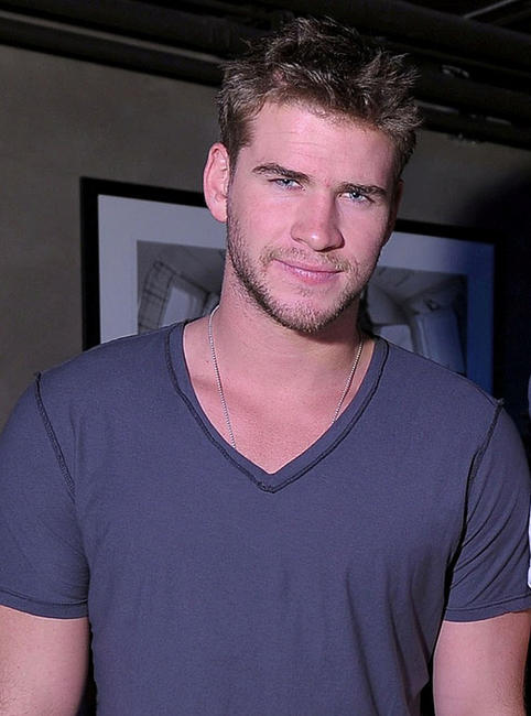 Liam Hemsworth at the Oakley party in Utah.
