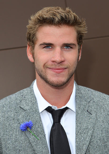 Liam Hemsworth at the AAMI Victoria Derby Day in Australia.
