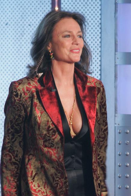 Jacqueline Bisset at the live broadcast of 'Wetten, dass..?' on ZDF television.