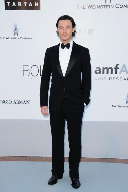 Luke Evans at the amfAR's Cinema Against AIDS 2010 benefit gala.
