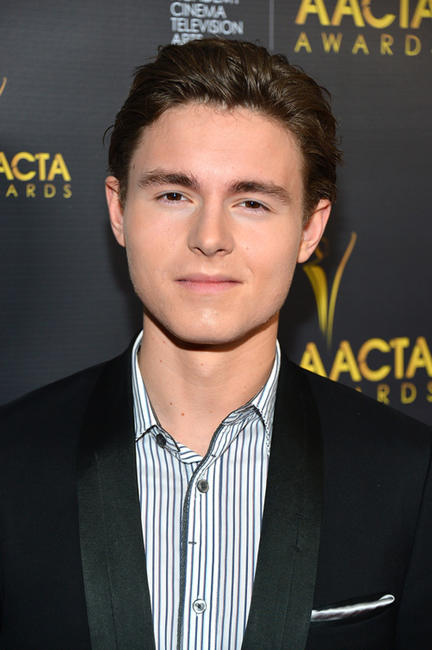 Callan McAuliffe at the 2nd AACTA International Awards in California.